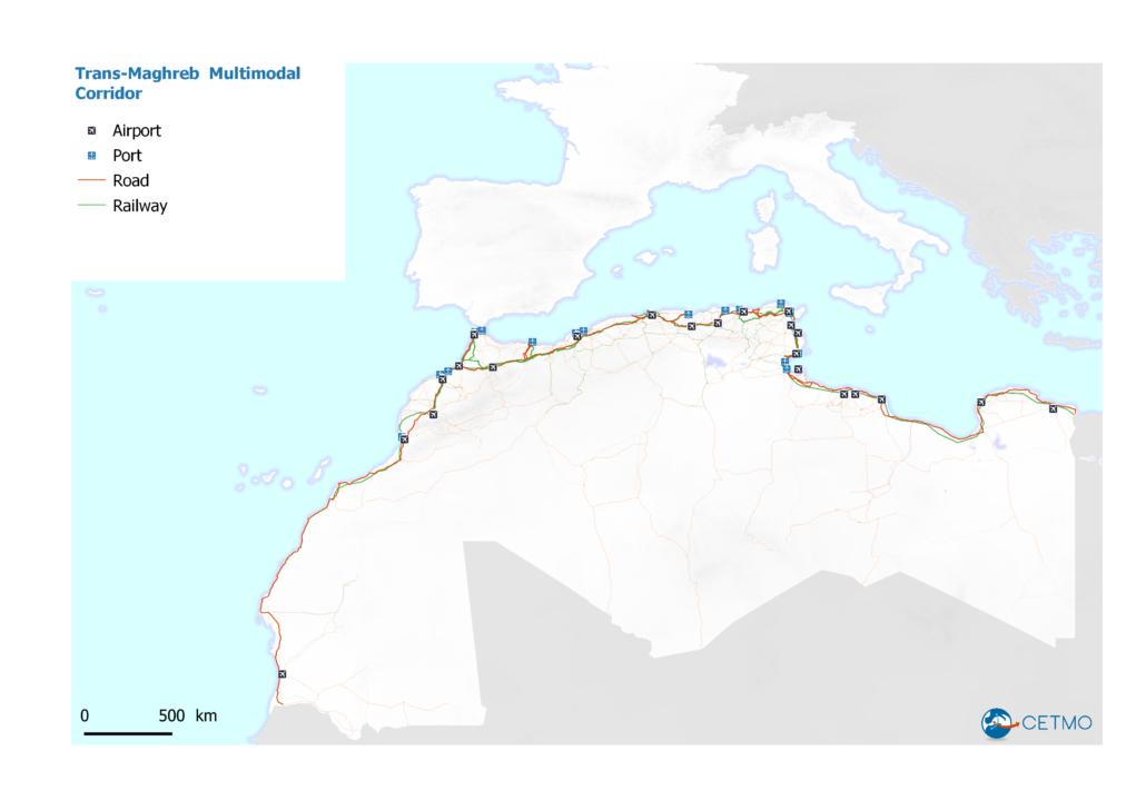 Trans-maghreb corridor in Western Mediterranean