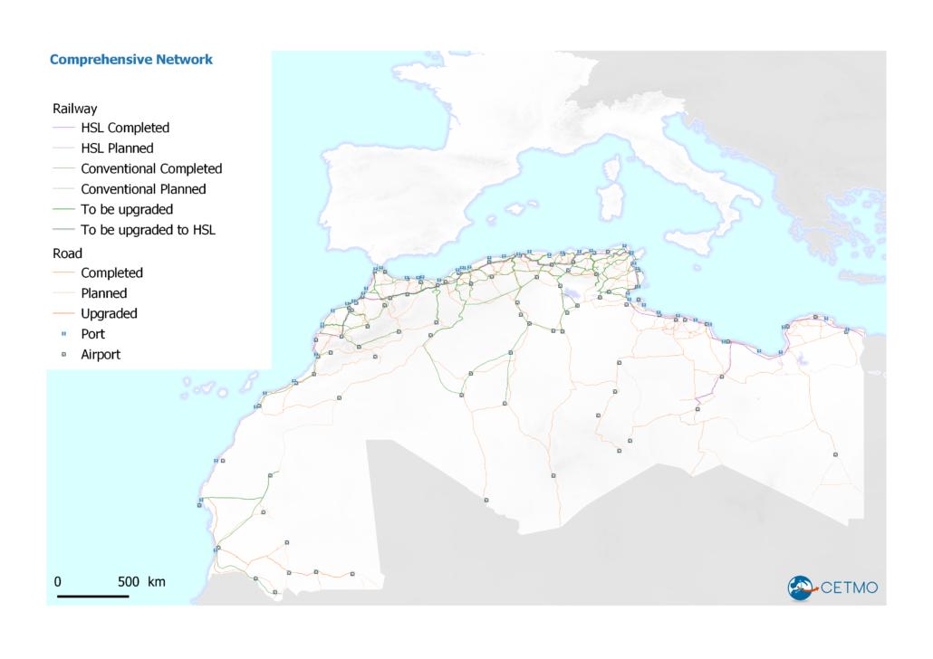 Comprehensive network in Western Mediterranean